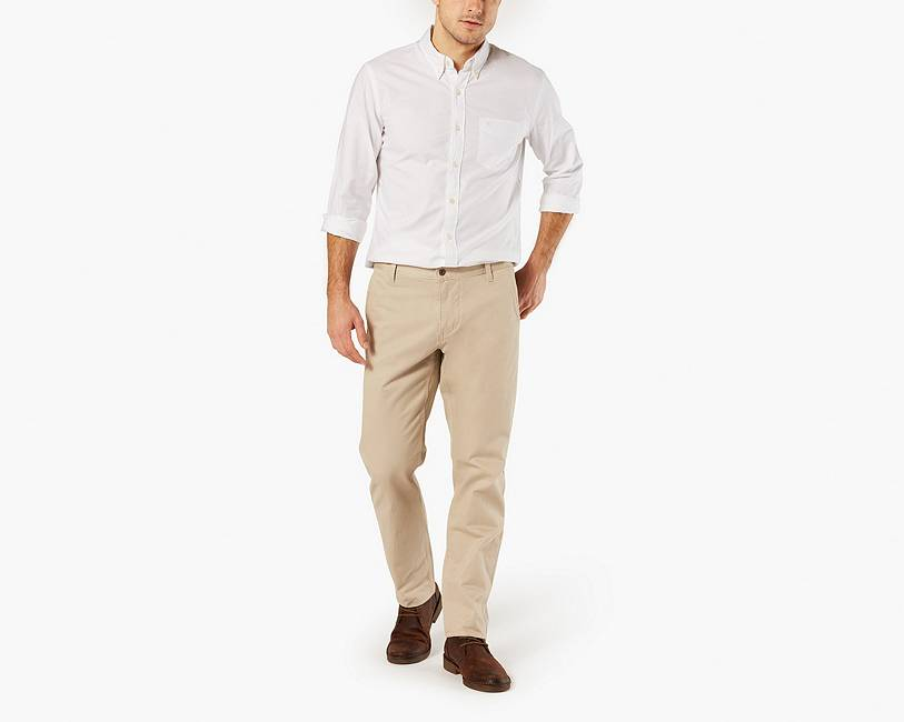 Dockers Alpha Khaki Athletic Tapered