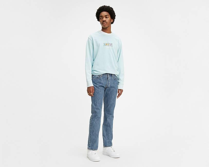 Medium Blue Stone Washed 501® Jeans for Men   Levi's®