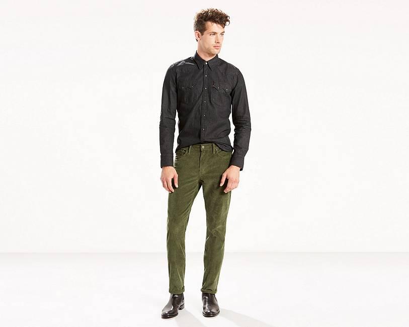 511™ Slim Fit Corduroy Pants | Olive |Levi's® United States (US)