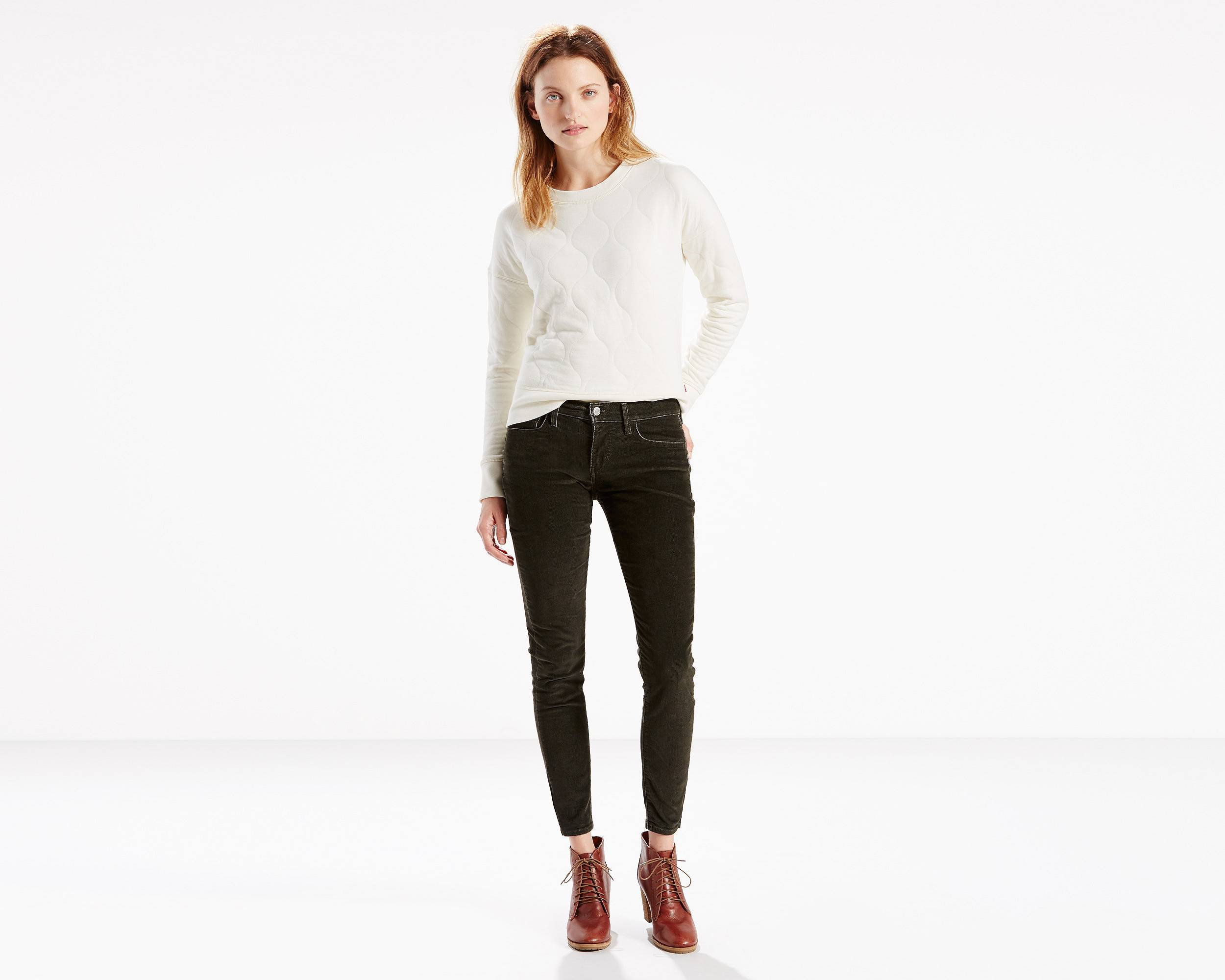 710 Corduroy Super Skinny Jeans   Dark Grey  Levi&39s® United States