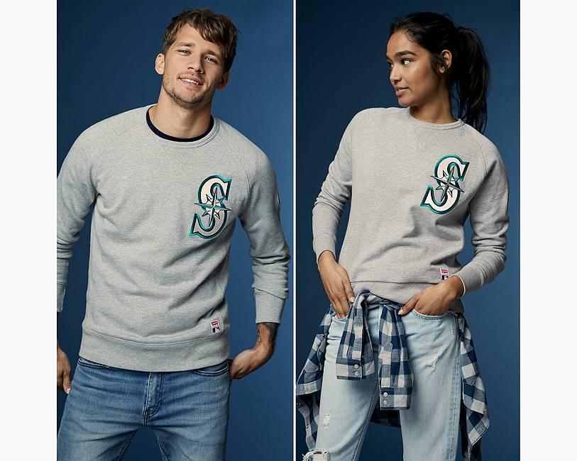 Levi's® MLB Crewneck Sweatshirt   Seattle Mariners  Levi's® United ...