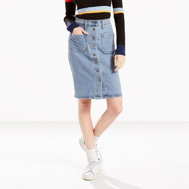 Front Detailed Skirt | Indigo Velvet |Levi's® United States (US)