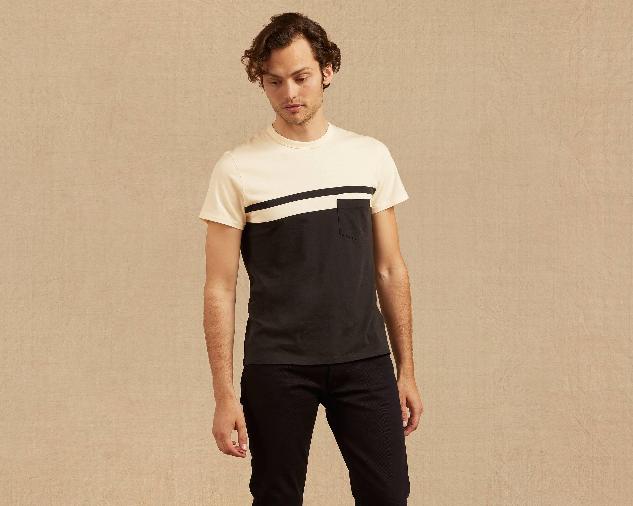 1960s Mens Shirts- Dress, Mod, T-Shirt, Turtleneck 1960s Casuals Stripe T-Shirt $88.00 AT vintagedancer.com