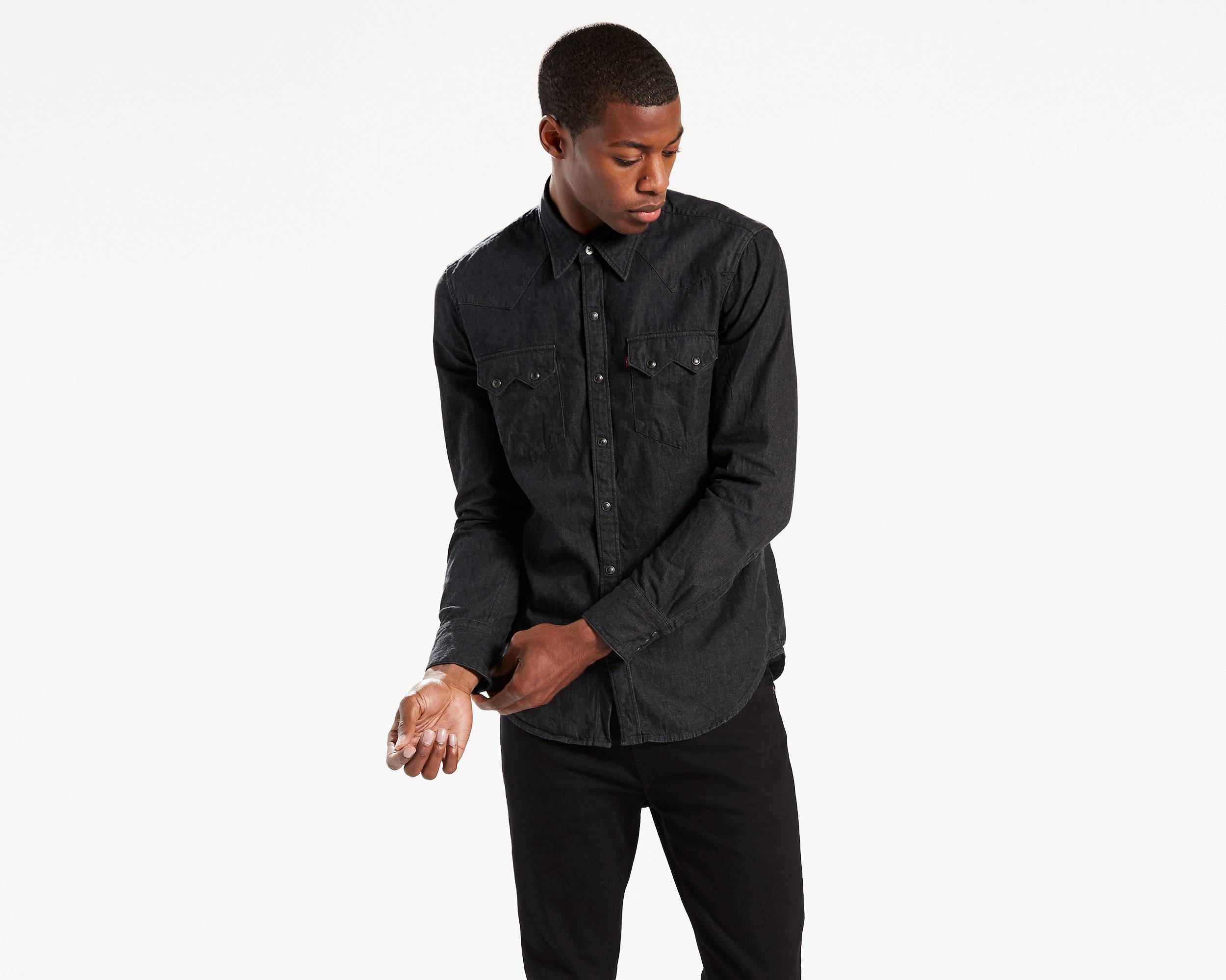 Sawtooth Western Shirt | Black |Levi's® United States (US)